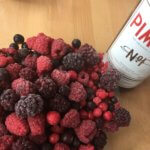 Pimm's with frozen berries