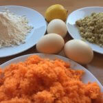 Carrot cake fresh ingredients